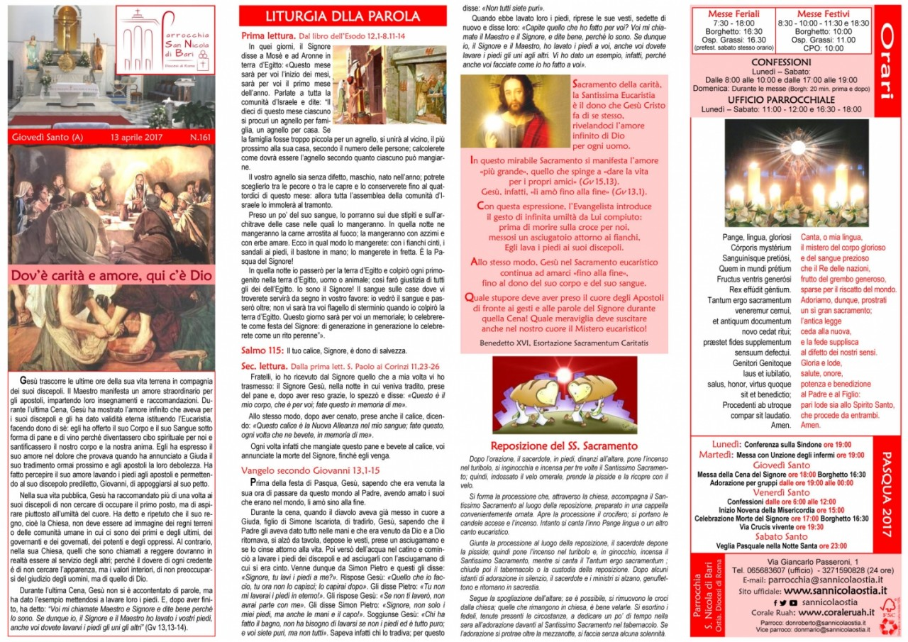 Foglio n. 161 - Giovedì Santo